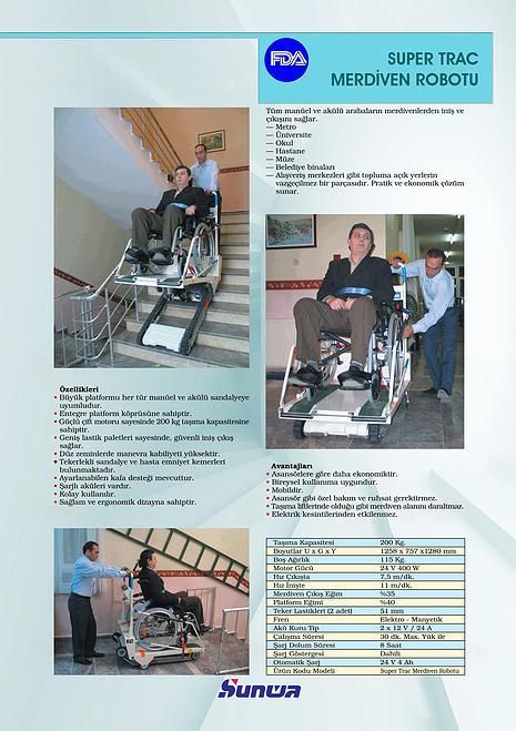 Sunwa Super Trac Merdiven Çıkma-İnme Cihazı 4