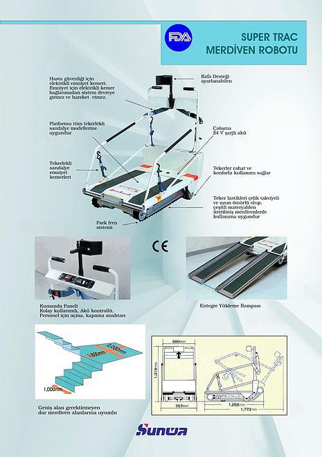 Sunwa Super Trac Merdiven Çıkma-İnme Cihazı 5