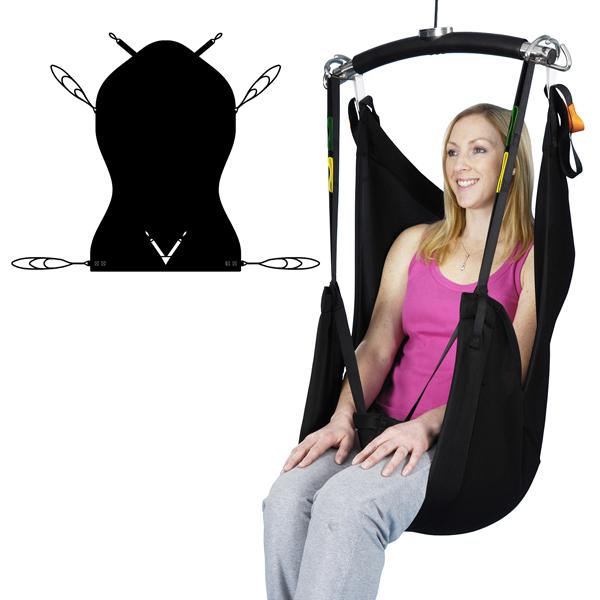 Comfort Recline Baş Destekli Hasta Taşıma Lifti Bezi, Sling 1