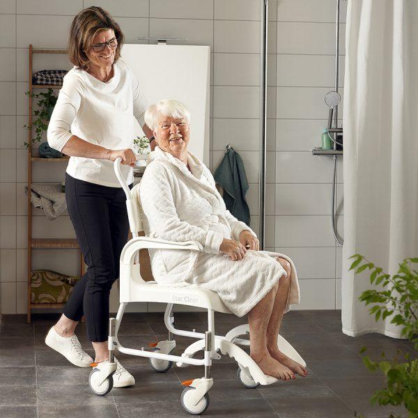 Etac Clean Yüksekliği Ayarlanabilir Banyo ve Tuvalet Sandalyesi 2