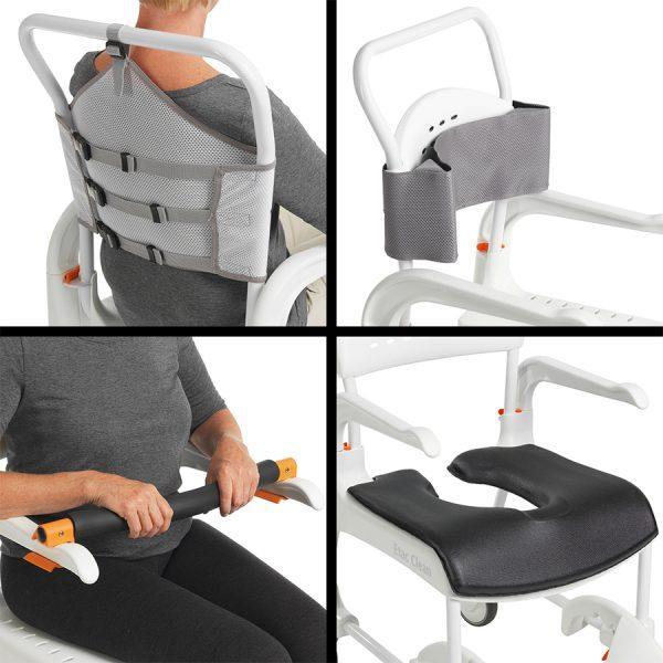 Etac Clean Yüksekliği Ayarlanabilir Banyo ve Tuvalet Sandalyesi 5