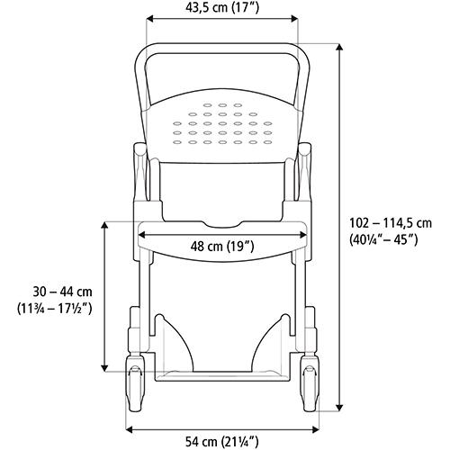 Etac Clean Yüksekliği Ayarlanabilir Banyo ve Tuvalet Sandalyesi 7