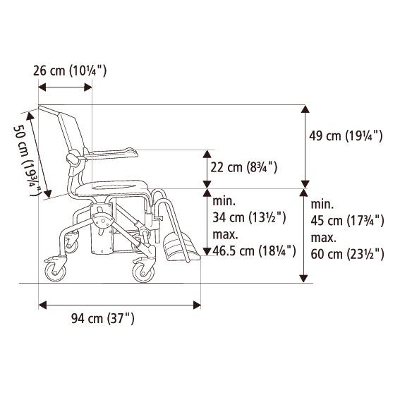 Etac Swift Mobile Banyo ve Tuvalet Sandalyesi 8