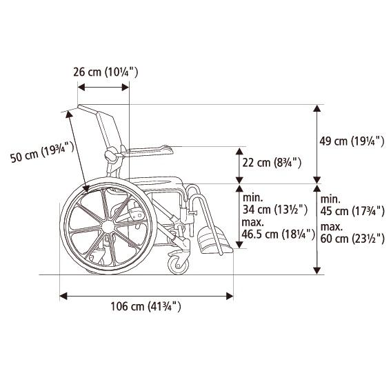 Etac Swift Mobile 24″ Banyo ve Tuvalet Sandalyesi 7