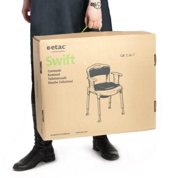 Etac Swift Commode Banyo ve Tuvalet Sandalyesi 8