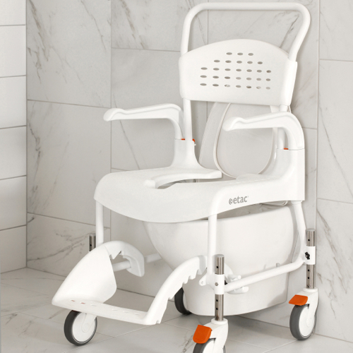 Etac Clean Yükseklik Ayarlı Banyo Tuvalet Sandalyesi Metin İçi