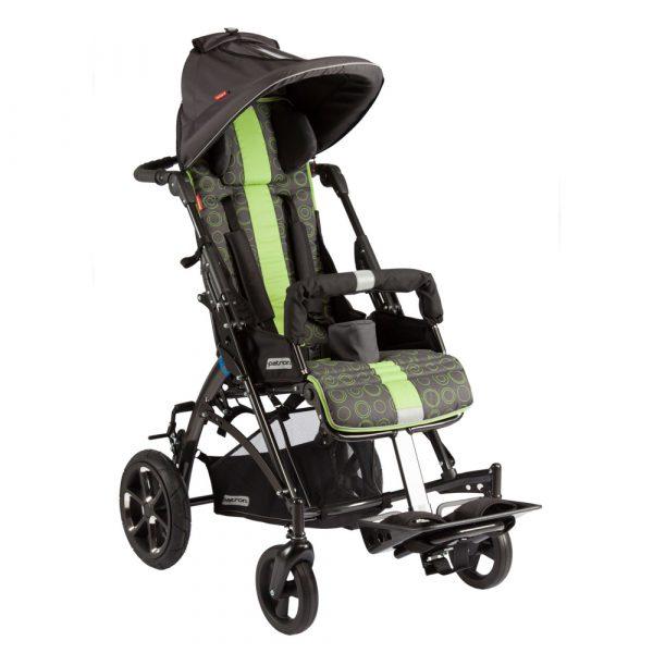 Jacko Streeter Engelli Çocuk Arabası yeşil güneşlikli yandan 2