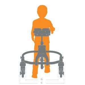 mustang engelli çocuk yürüteci ölçü ön