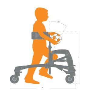 mustang engelli çocuk yürüteci ölçü yan