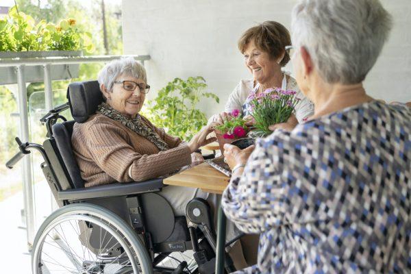 Etac Prio Tekerlekli Sandalye üçlü sohbet