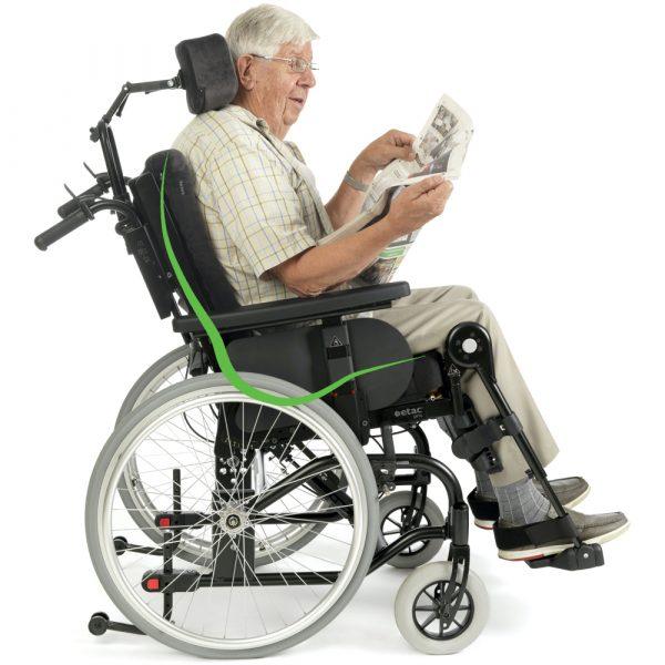 Prio Tekerlekli Sandalye Peluş ayarlanabilir başlık anatomik